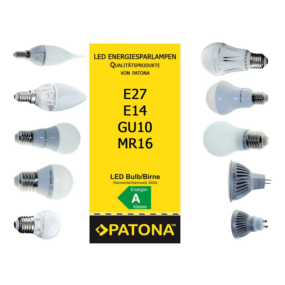 patona energiesparlampe led esl lampe birne e14 e27 gu10 mr16 5w 7w 9w 12w 14w ebay. Black Bedroom Furniture Sets. Home Design Ideas